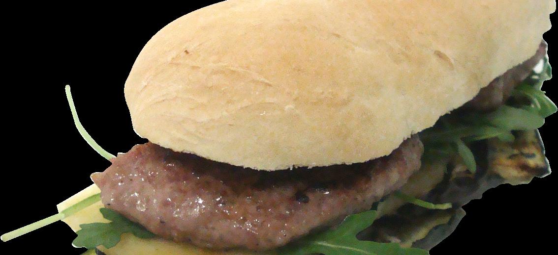 Guinness Burger Con Melanzane, Zucchine, Formaggio e Rucola