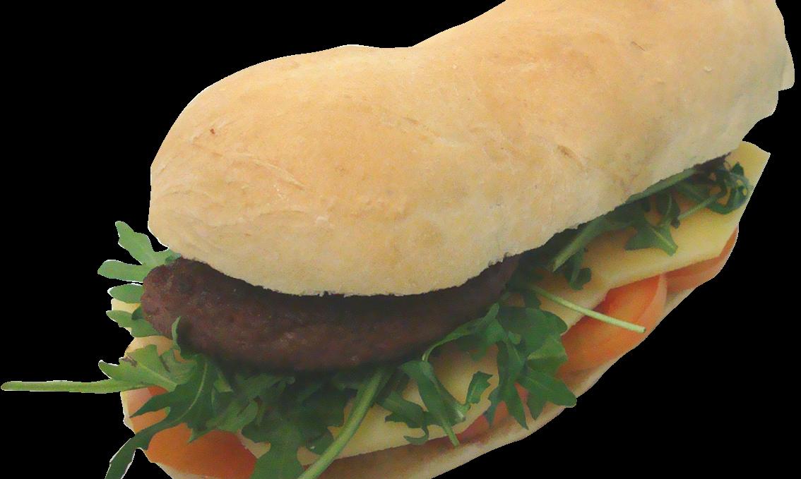 Hamburger Di Castrato Con Pomodoro, Formaggio e Rucola