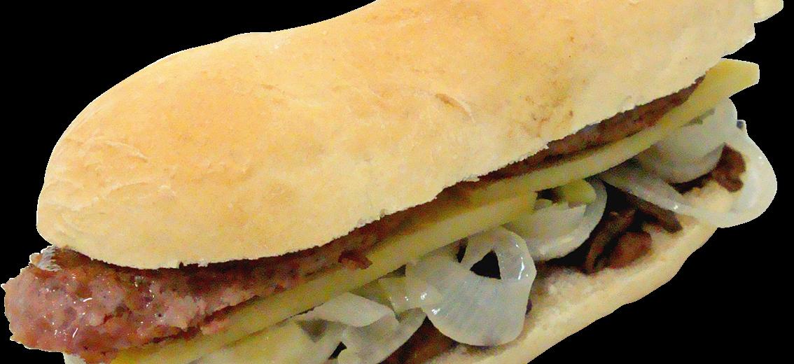 Guinnes Burger Con Funghi, Cipolla e Formaggio