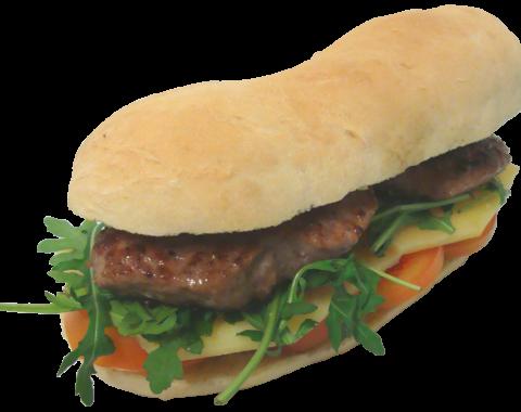 Guinness Burger Con Pomodoro, Formaggio e Rucola